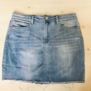 🔥 3 for $25 Indigo Rain Denim Skirt Distressed,